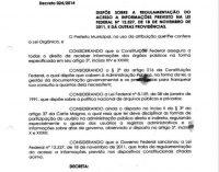 DECRETO MUNICIPAL 024/2014 REGULAMENTA O ACESSO A INFORMAÇÃO