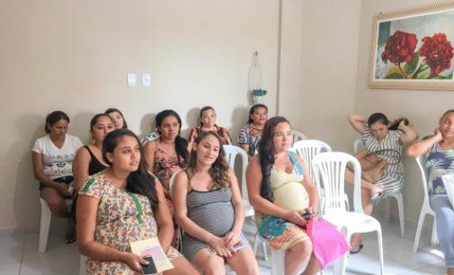 Reunião com as gestantes e a comemoração do dia internacional da mulher