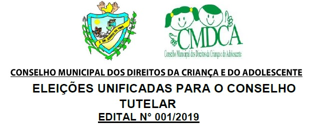 EDITAL Nº 001/2019