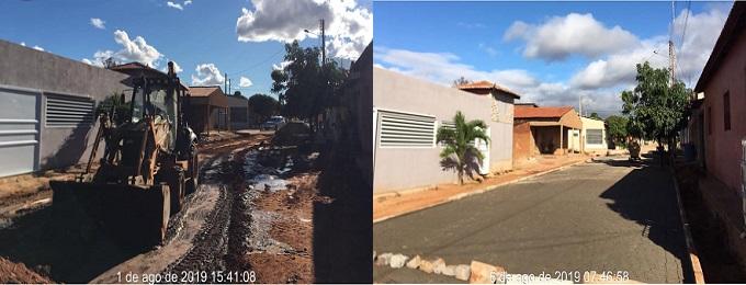Pavimentação, neste mês de agosto/2019