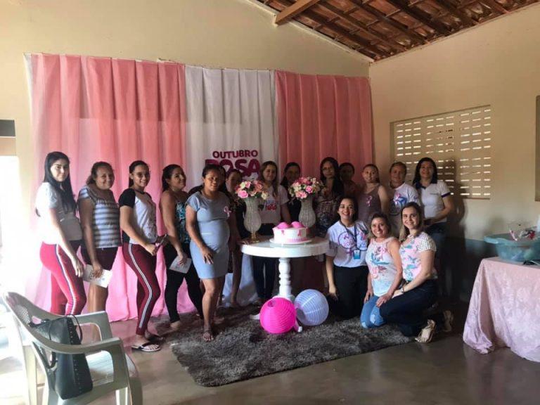 """Reunião com o Grupo de Gestantes """"Gravidez Arte da Vida"""" abordando o Tema da Campanha Outubro Rosa"""