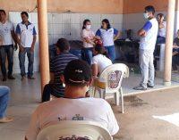 Reunião entre a Vigilância Epidemiológica, ACS, Atenção Básica e a Secretária de Saúde.