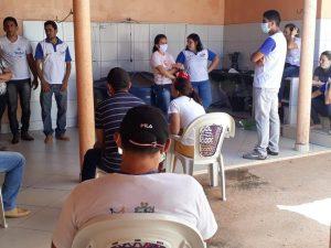 Read more about the article Reunião entre a Vigilância Epidemiológica, ACS, Atenção Básica e a Secretária de Saúde.