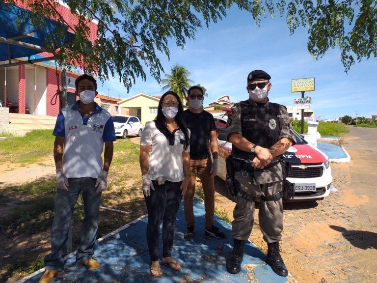 Nesta terça-feira a Prefeitura Municipal da cidade de Brejo dos Santos-PB realiza BARREIRAS SANITÁRIAS