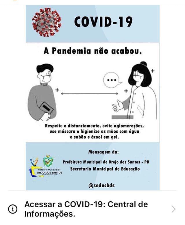 Alerta contra a COVID-19!