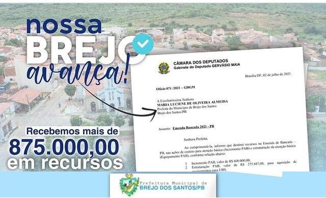 Read more about the article Emenda do deputado Gervásio Maia, destinada para o PAB e UBS