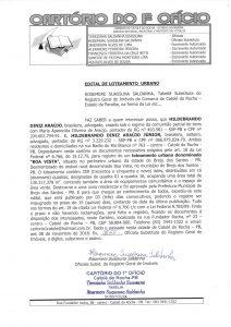 Read more about the article Edital de Loteamento Urbano