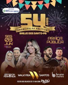 Festa de 54 anos de emancipação politica de Brejo dos Santos-PB