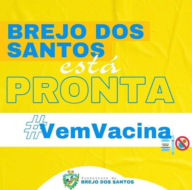 Vacinação da Coronavac é antecipada em Brejo dos Santos-PB