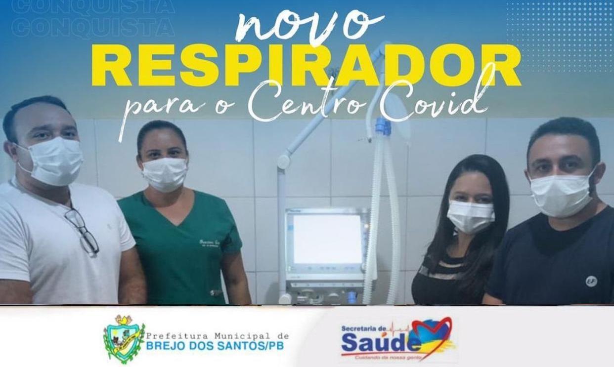 Brejo dos Santos – PB ganha  um novo respirador para o centro COVID – Todos contra a COVID-19