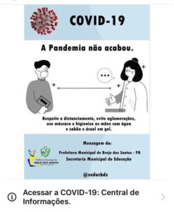 Read more about the article Alerta contra a COVID-19!
