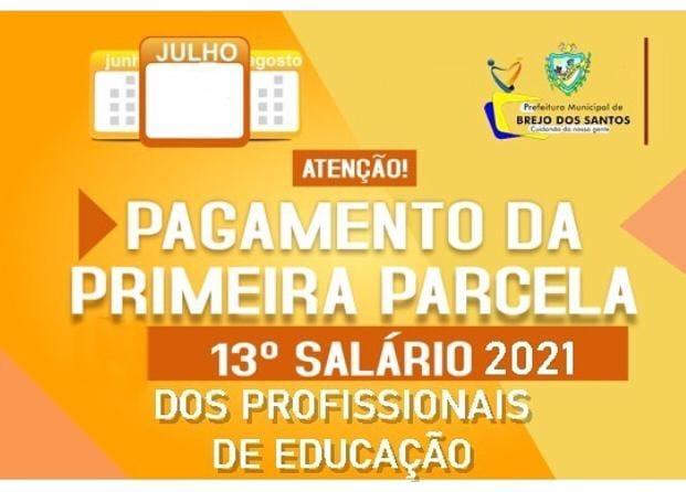 Read more about the article Prefeita Luciene Almeida autoriza o pagamento da primeira parcela do décimo terceiro salário dos servidores da área da educação em Brejo dos Santos – PB